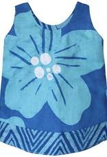Global Mamas Teal Giant Flower Reversible Dress