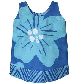 Global Mamas Teal Giant Flower Reversible Dress