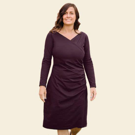 Long Sleeve Tuck Dress