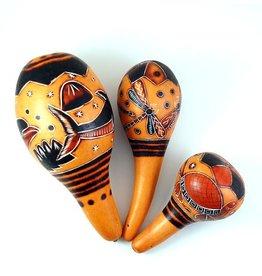 Carved Gourd Maracas