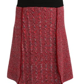 Red Space Dyed 4 panel Skirt