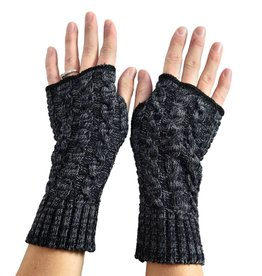 Black Black Space Dyed Handwarmers