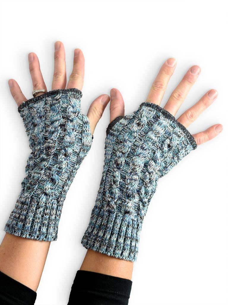Teal Space Dye Handwarmers