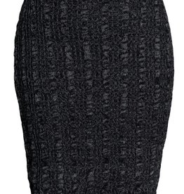 Black Black Space Dye Pencil Skirt