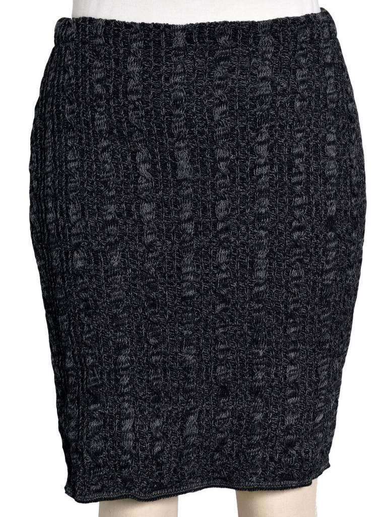 Black Black Space Dye Pencil Skirt