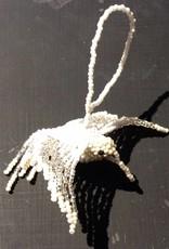 White Hummingbird Ornament