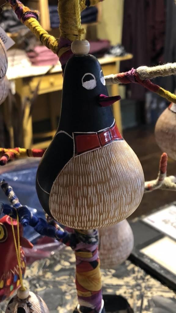 Penguin Gourd Ornament