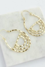 Golden Altar Hoops