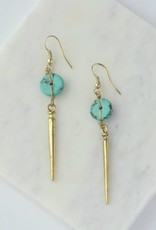 Pointed Charm Earrings - Gold