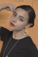 Argent Hexagon Earrings