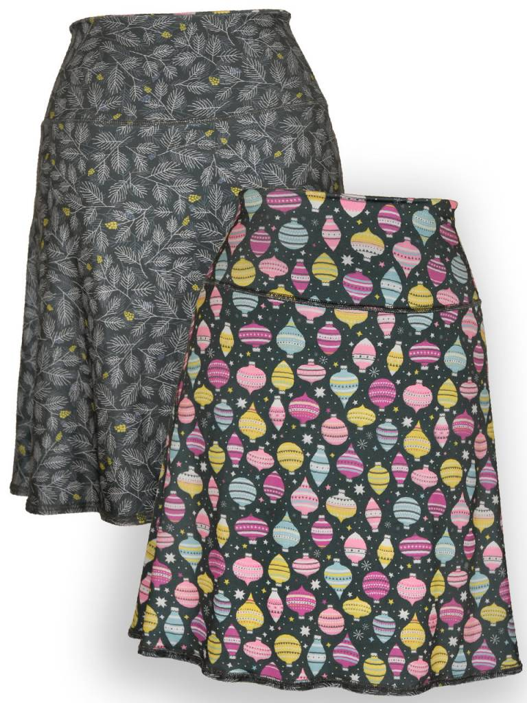 Ornaments & Pine Bough Reversible Sport Skirt