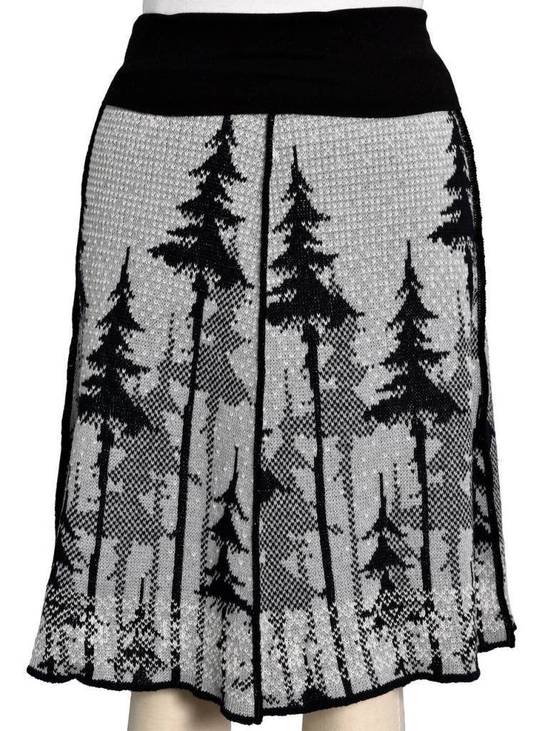 Snowy Tree 4-Panel Skirt