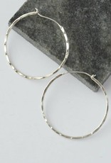 Bamboo Hoops - Silver