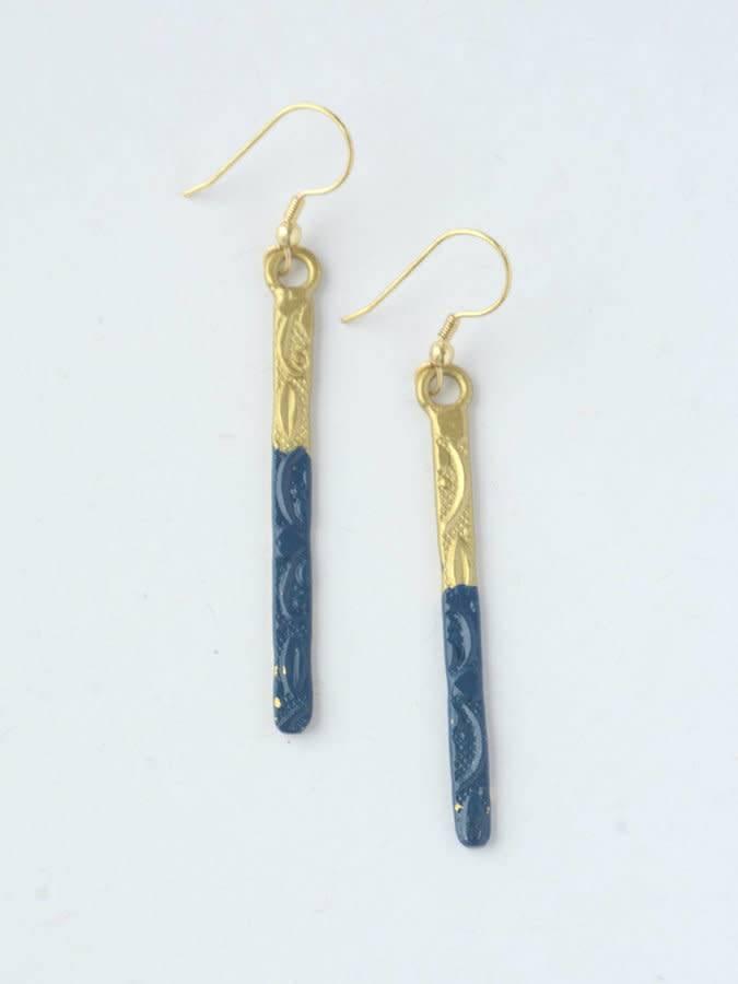 Cobalt Dipped Earrings