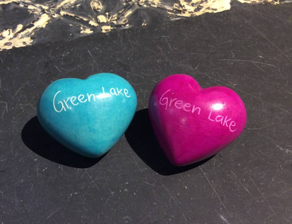 Green Lake Soapstone Heart