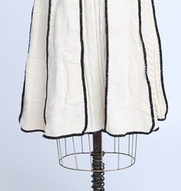 Green 3 Apparel Textured Natural Cotton Skirt