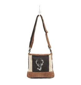 Reindeer Print Cross Body Bag