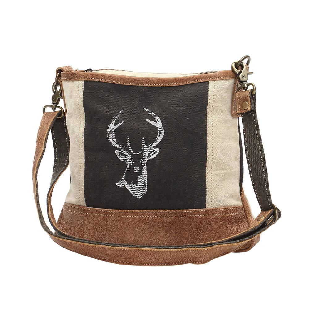 Reindeer Print Cross Body Bag