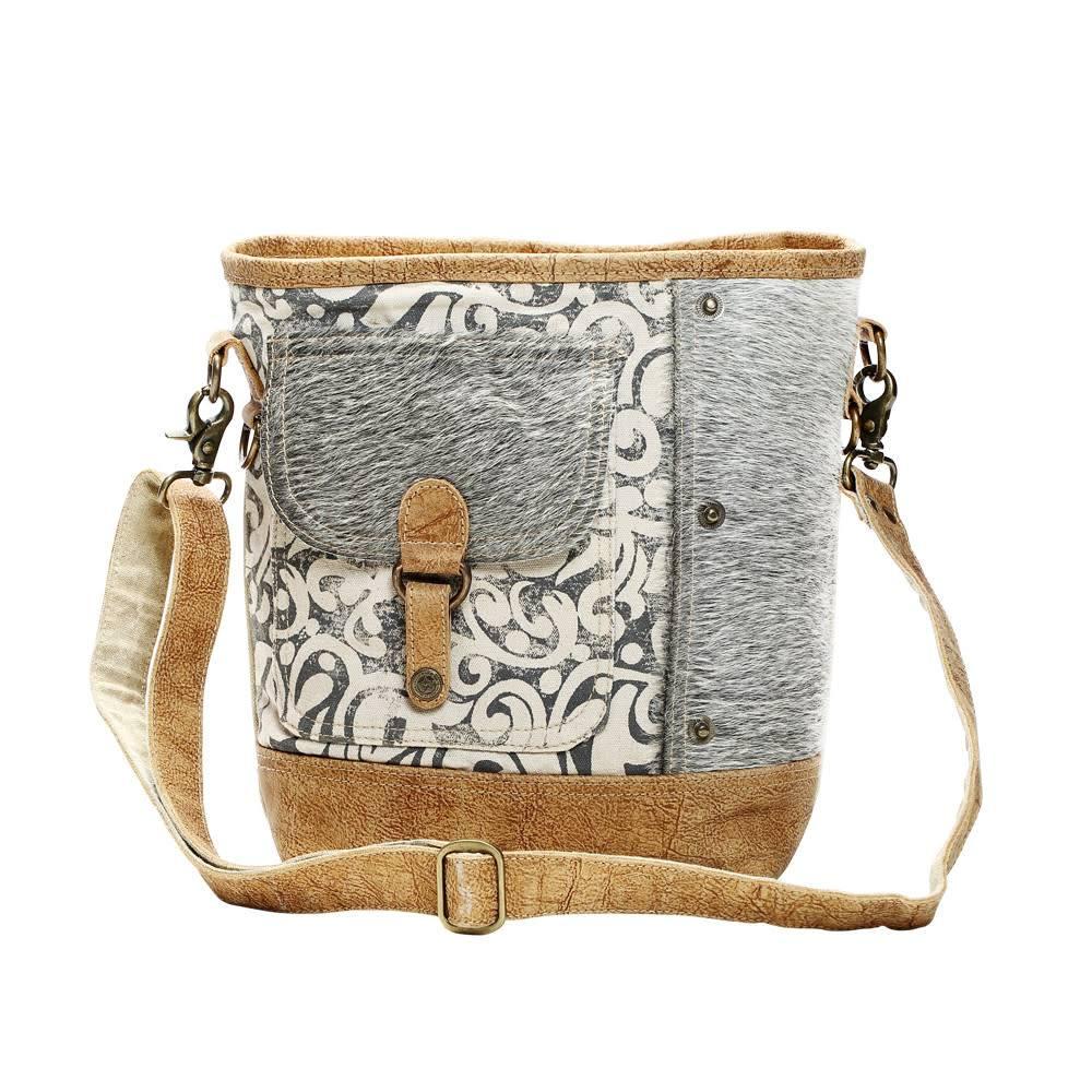 Hairon Flap Pocket Shoulder Bag