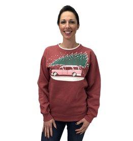 Car With Tree Sweatshirt