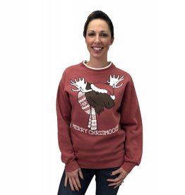 Green 3 Apparel Merry Christmoose Sweater