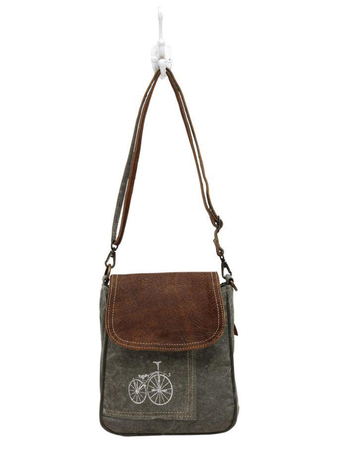 By-cycle print Shoulder Bag