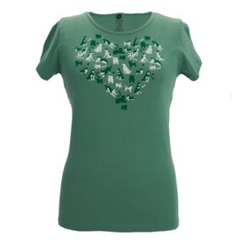 Green 3 Apparel Dog Heart Tee Grasshopper