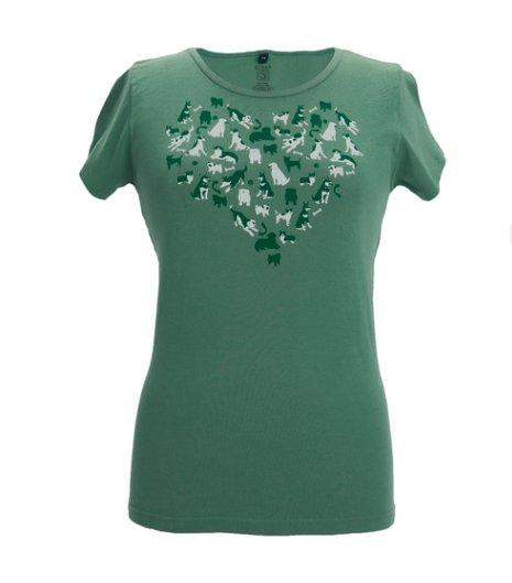 Green 3 Apparel Dog Heart Tee Grasshopper