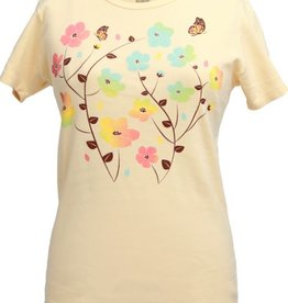 Green 3 Apparel Butterfly Floral SS