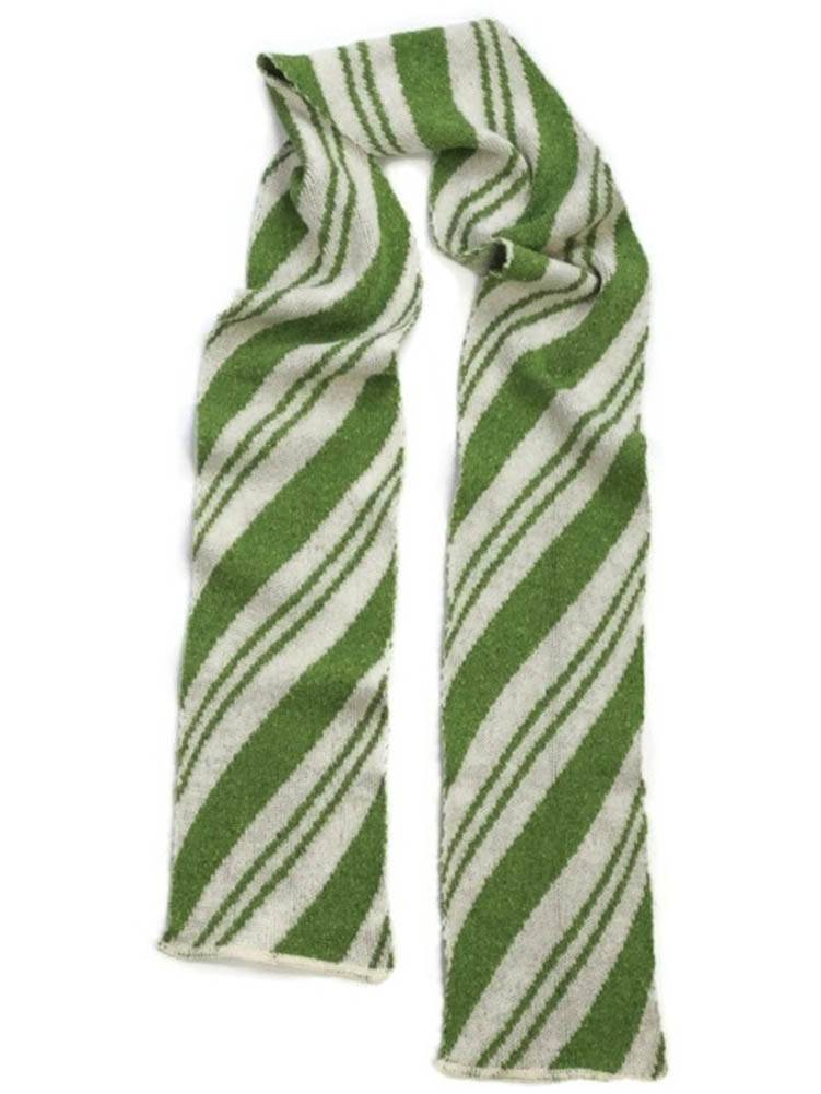 Spearmint candy cane scarf