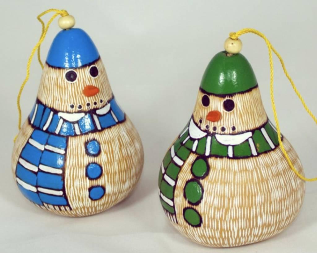 Snowman Gourd Ornament