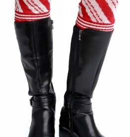 Green 3 Apparel Candy Cane Boot Cuffs