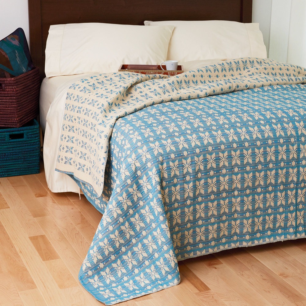 Teal &Multi Floral Bedcover-Queen