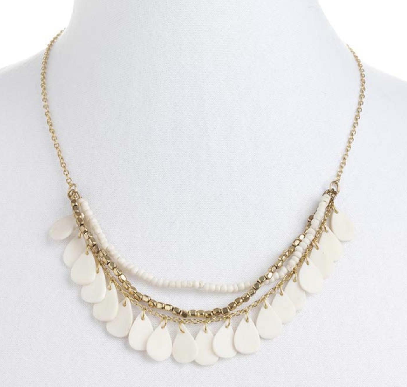 White Petal Necklace