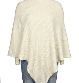 Cable Knit Poncho Featherweight