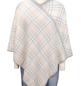 Knit Plaid Poncho Featherweight