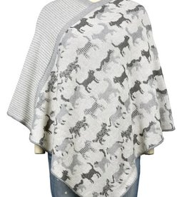 Knit Poncho Featherweight  Cat