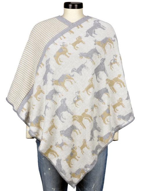 Knit Poncho Featherweight Dog