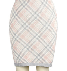 Green 3 Apparel Featherweight Plaid Pencil Skirt