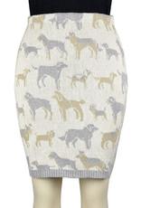 Featherweight Dog Pencil Skirt