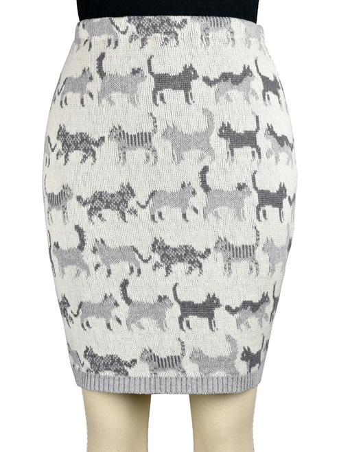 Featherweight Cat Pencil Skirt