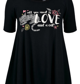 Love and a Cat SS Tunic