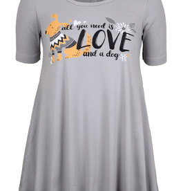 Love and a Dog SS Tunic