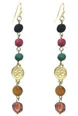 Kantha Raindrop Earrings
