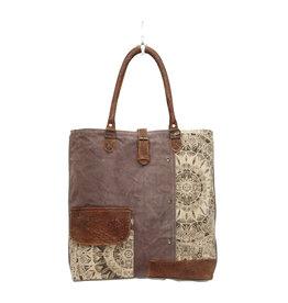 Flower Design Canvas Tote Bag