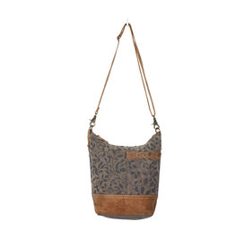 Aloe print shoulder bag