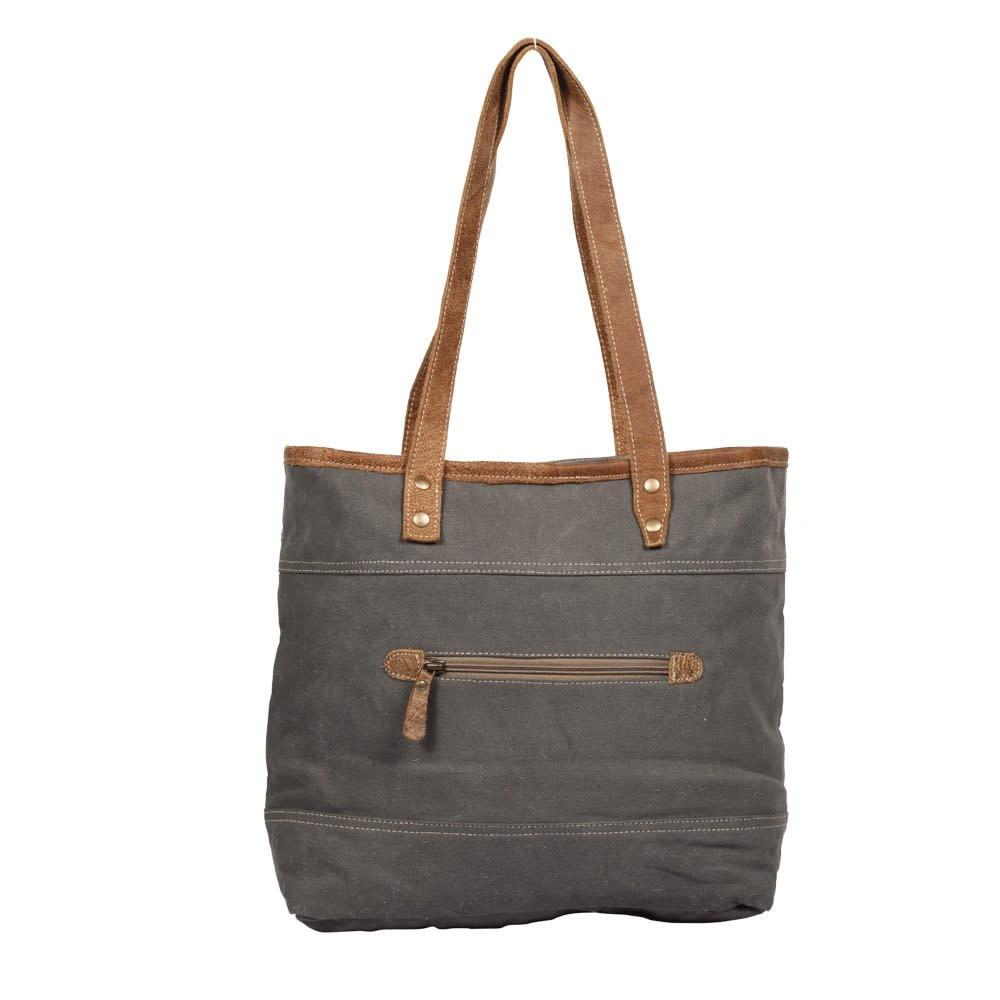 Objet d'art Leather Strip tote bag