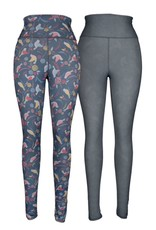 Multi Birds & Crosshatch Reversible Leggings