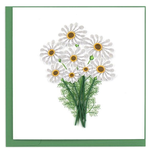Quilling Card White Daisies