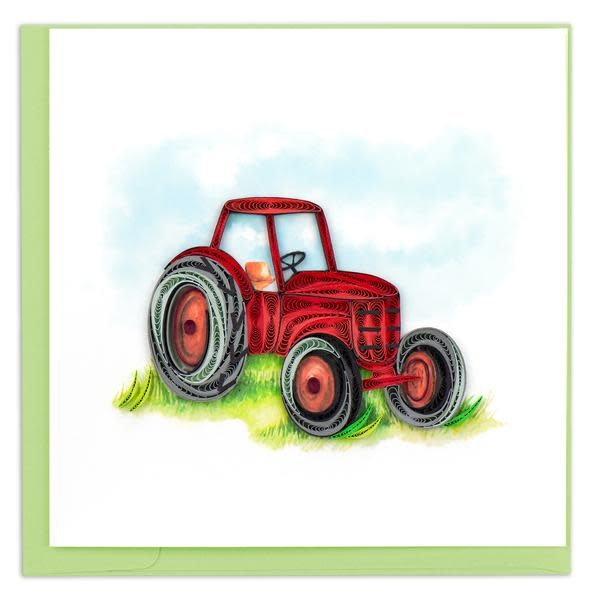 Quilling Card Red Tractor
